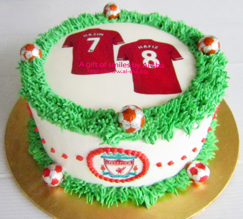 Edible Cake Images Nj : Birthday Cake Edible Image Liverpool Jersey - Aisha ...