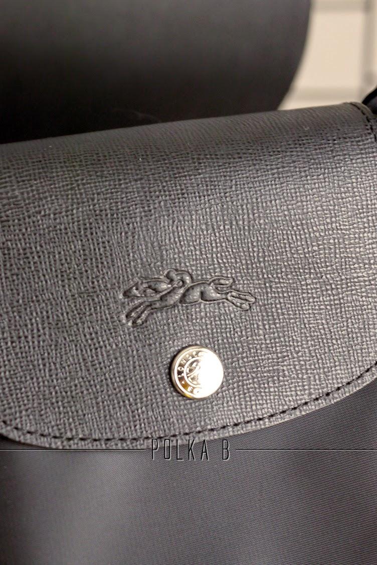 Longchamp Le Pliage Neo 1515578 Black Polka B Authentic Luxury Small
