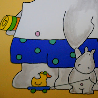 Hippos from Belly Button Book by Sandra Boynton