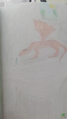 zły smok, rysunek 1