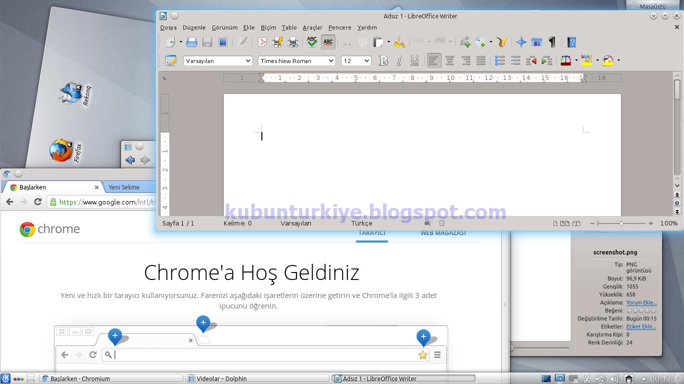 Kubuntu 12.10 KDE Plasma Masaüstü ile