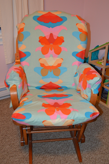Slip-covered chair by Cicely Ingleside
