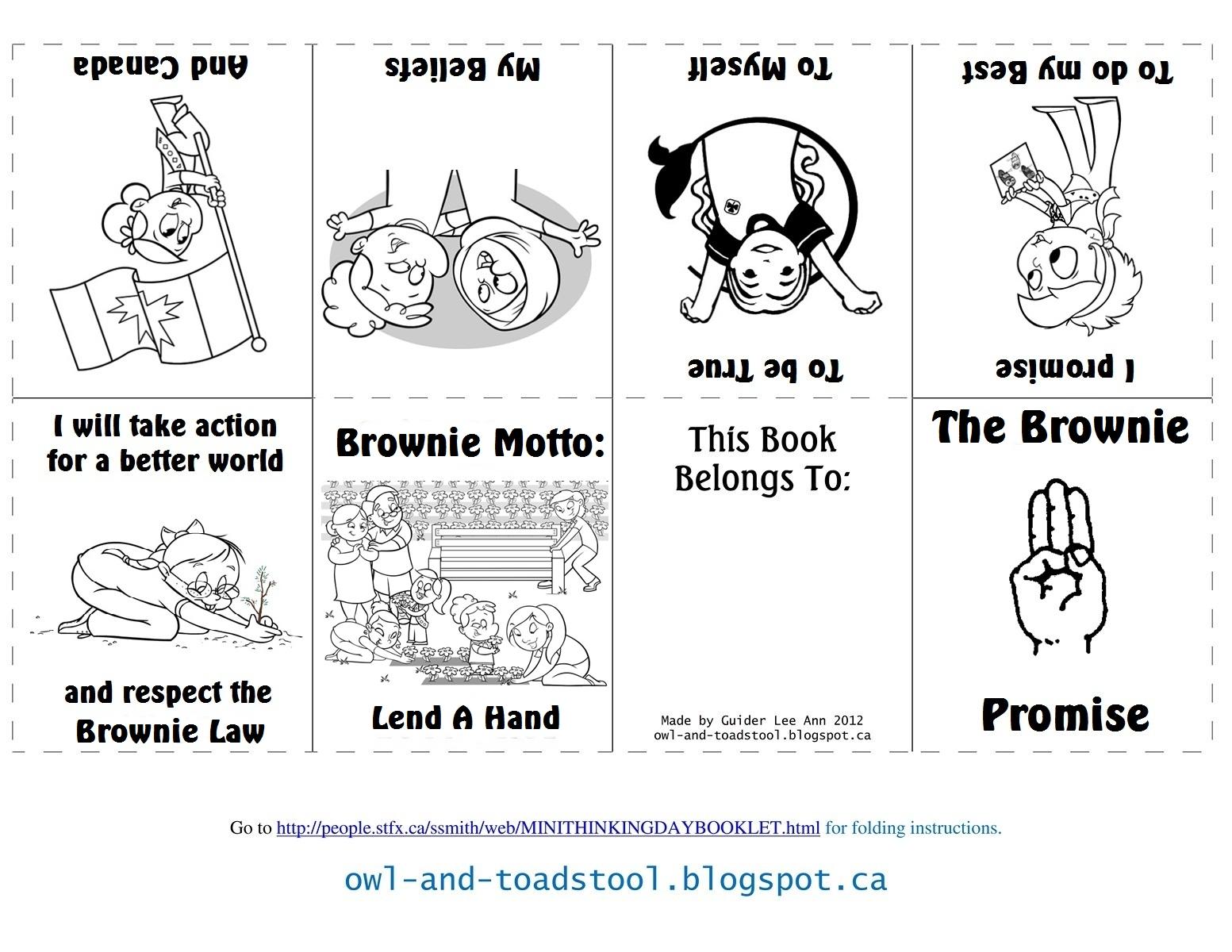 Owl & Toadstool: Brownies Promise & Law Minibooks