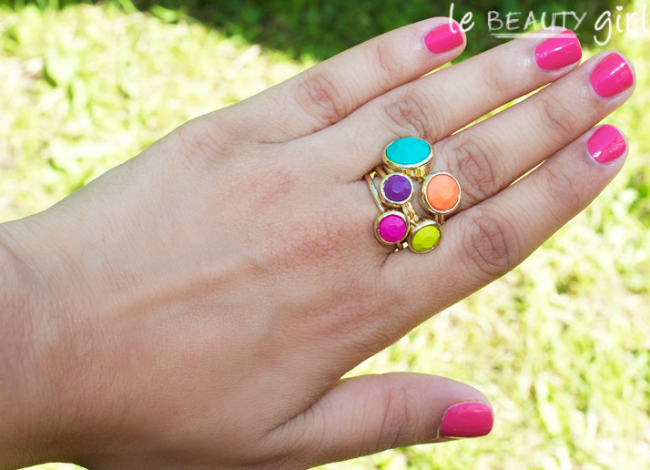 Primark Neon Stack Rings Set