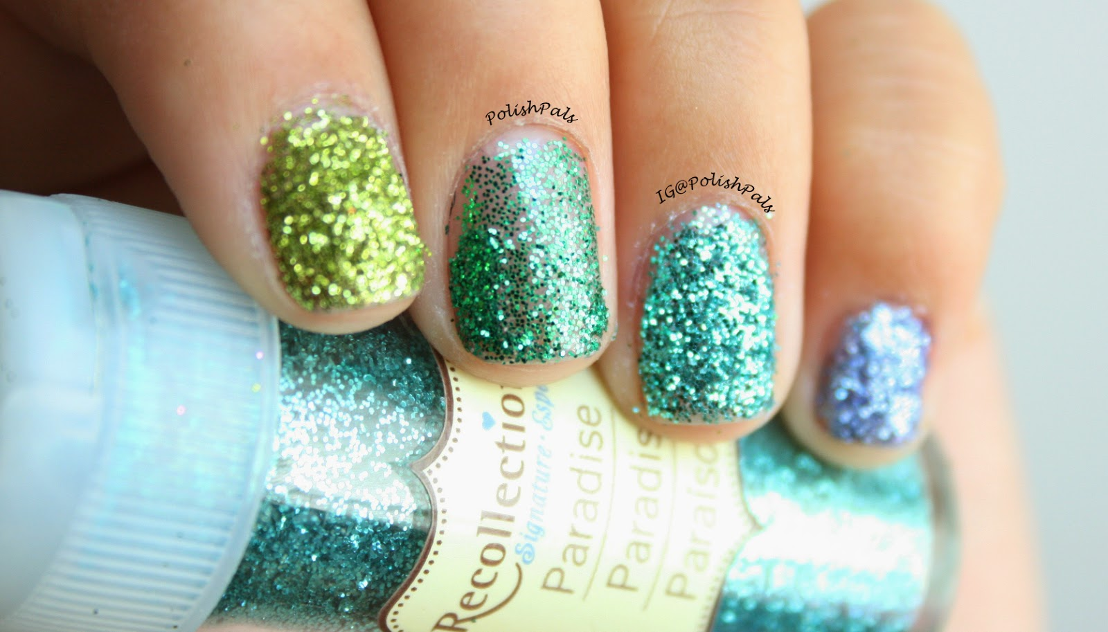 Polish Pals: Ombre Loose Glitter Nails (+ Tutorial)