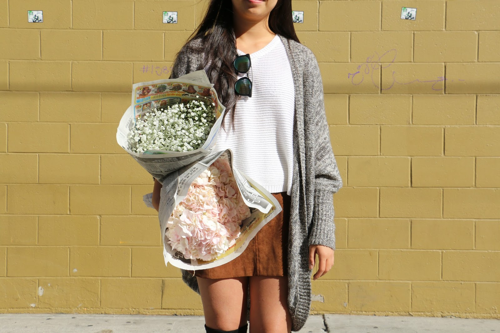 flowers, outfit of the day, style