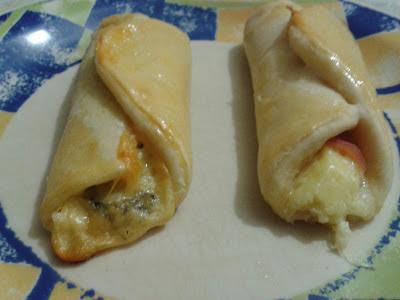 Enroladinho de queijo e presunto zero açúcar