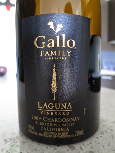 Wine Label of 2009 Gallo Family Laguna Vineyard Chardonnay from Russian River Valley, Sonoma County, California, USA