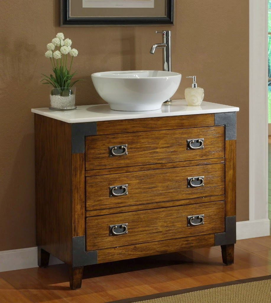 Bathroom Vessel Sink Vanity : Adelina Vessel Sink Bathroom Vanity