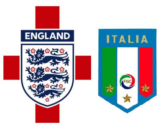 REPETICION SELECCIONES INGLATERRA VS ITALIA, Goles, Resultados, Estadisticas, Online