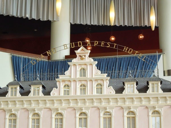 Grand Budapest Hotel model rooftop sign
