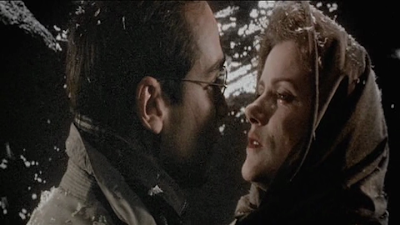 Jean-Marc Barr as Leopold, Barbara Sukowa as Katharina, Sharing an Intimate Moment in Europa, Directed by Lars von Trier