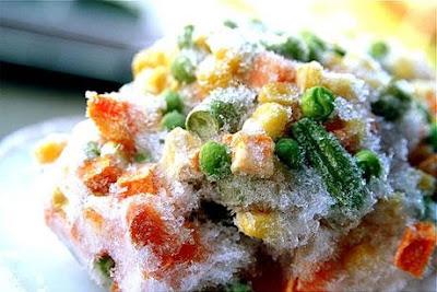 Las verduras congeladas