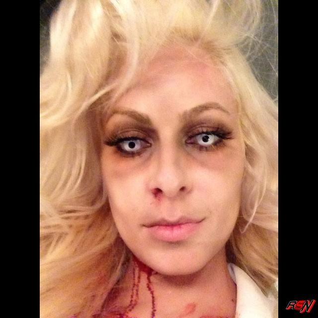 Maryse Looking Creepy for Halloween.