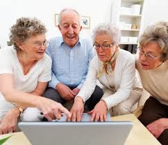 an older generation using technology