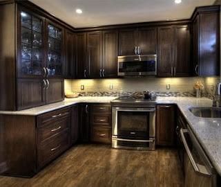 cocinas integrales como imagen grafica en exposicin tienen muebles de madera estas tiene todos los elementos que puede tener una cocina integral - Modelos De Cocinas