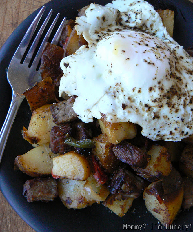 steak hash & eggs
