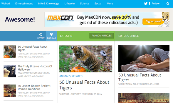 Awesome Mag Responsive Blogger Template