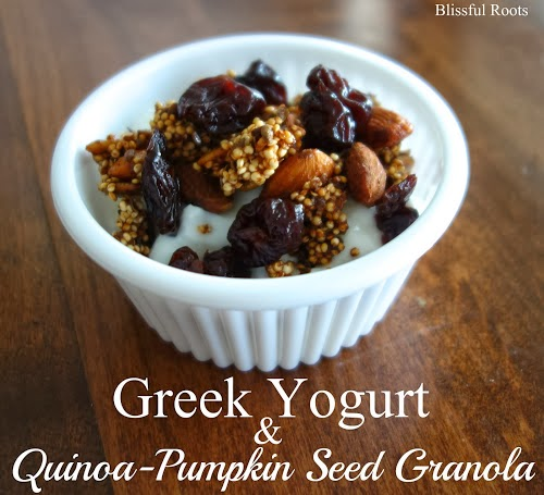 Quinoa-Pumpkin Seed Granola & Greek Yogurt
