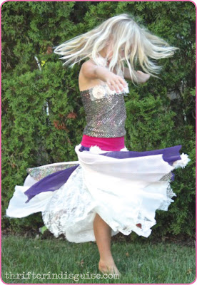 Kids Lace Chiffon Skirt