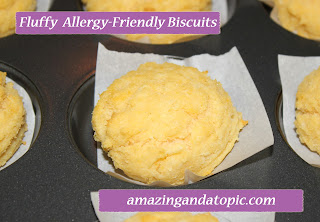 Fluffy Allergy Friendly Biscuits - Egg-Free, Milk-Free, Wheat-Free, Gluten-Free