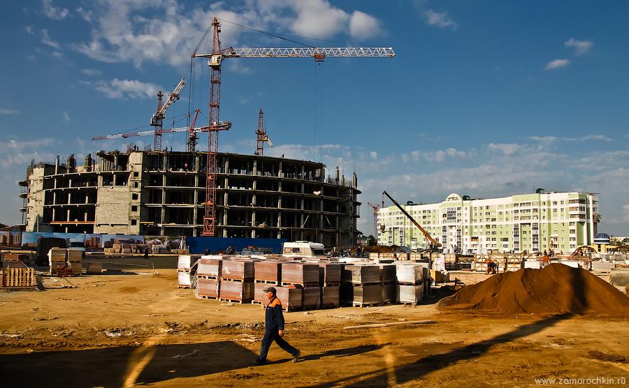 Строительные работы на площади Тысячелетия