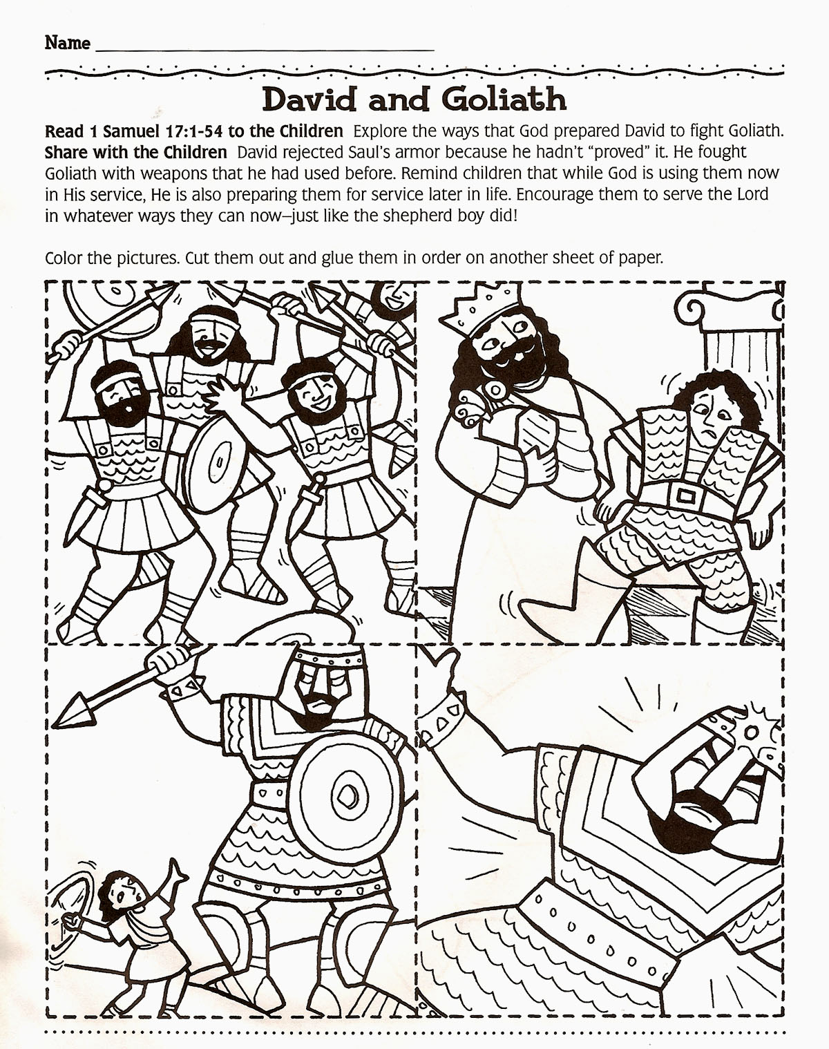 Free coloring pages david and goliath - David And Goliath Coloring Page Lds Primary Pinterest Sunday School Bible And School