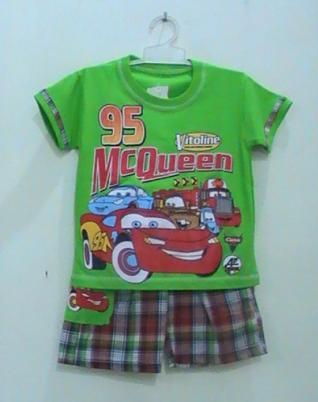 baju kartun anak cars