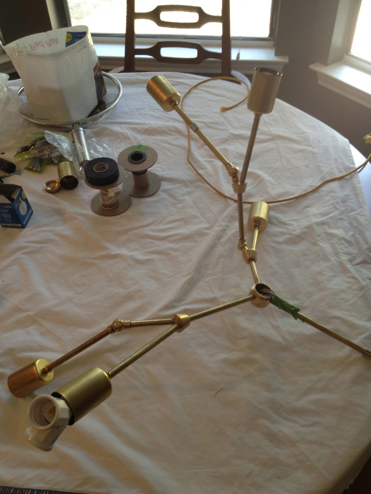Diy brass lindsay adelman chandelier part three lindsey does diy brass lindsay adelman chandelier part three arubaitofo Choice Image