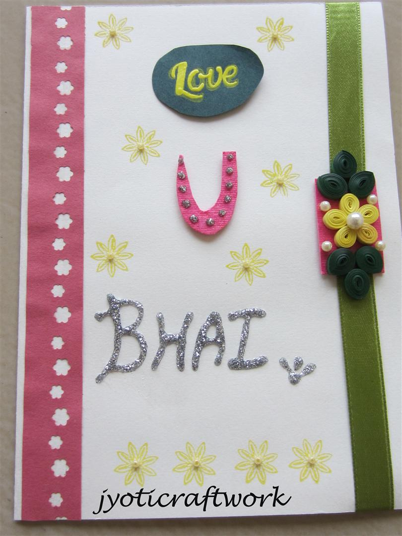 Card Making Ideas For Raksha Bandhan Part - 15: Hi Friends... A Post After Long Break , But I Assure I Will Display All The  Work I Have Done In These Few Days.. Yes!!! I Was Occupied In Making Rakhis  For ...