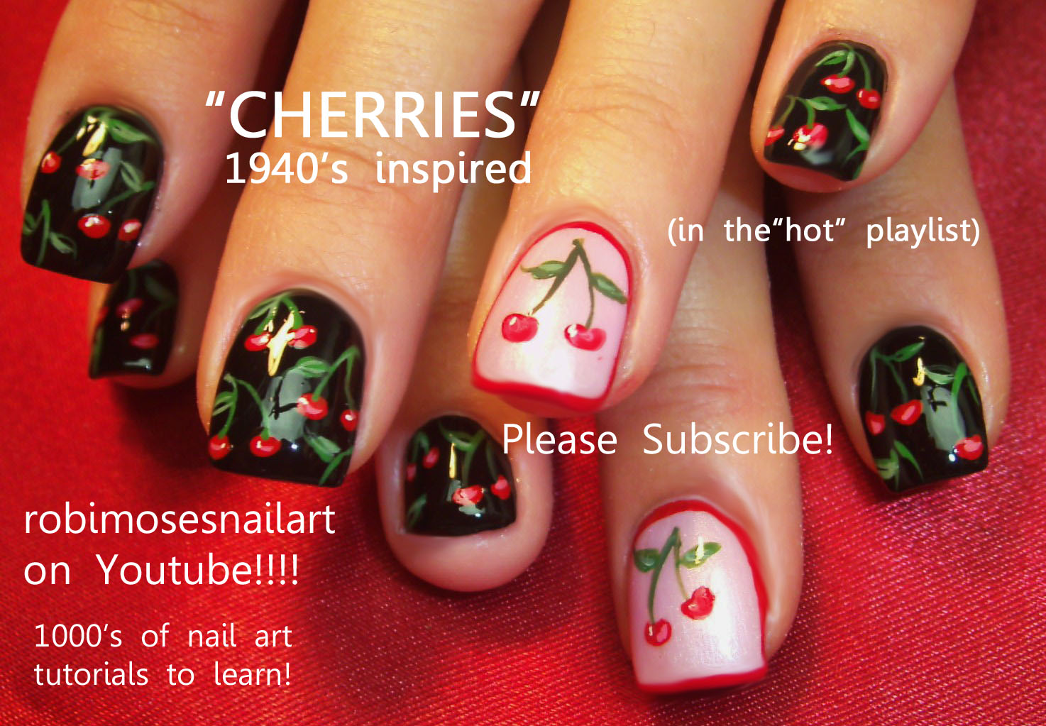 Nail Art Design: robin moses nails, cherry nail, geisha nail, cherry ...