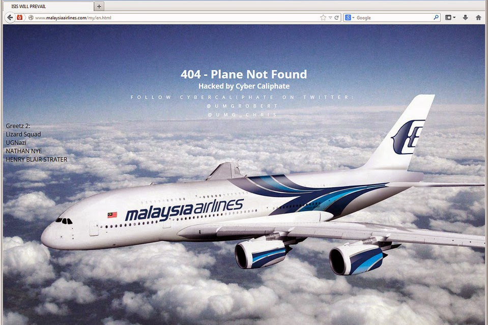 malayasian airlines hacked