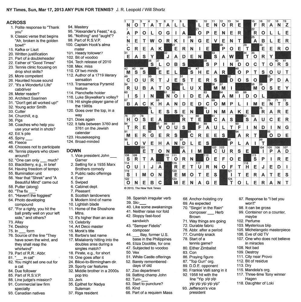 New+York+Times+Crossword+by+J+R+Leopold+edited+by+Will+Shortz+Sunday