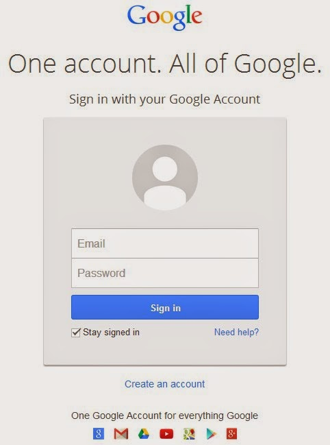 buat blog diblogspot harus punya account gmail