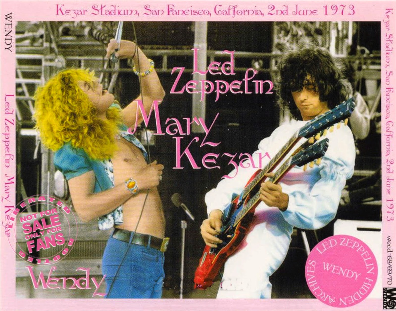 1973 - Led Zeppelin - Mary Kezar - San Francisco - Bootleg