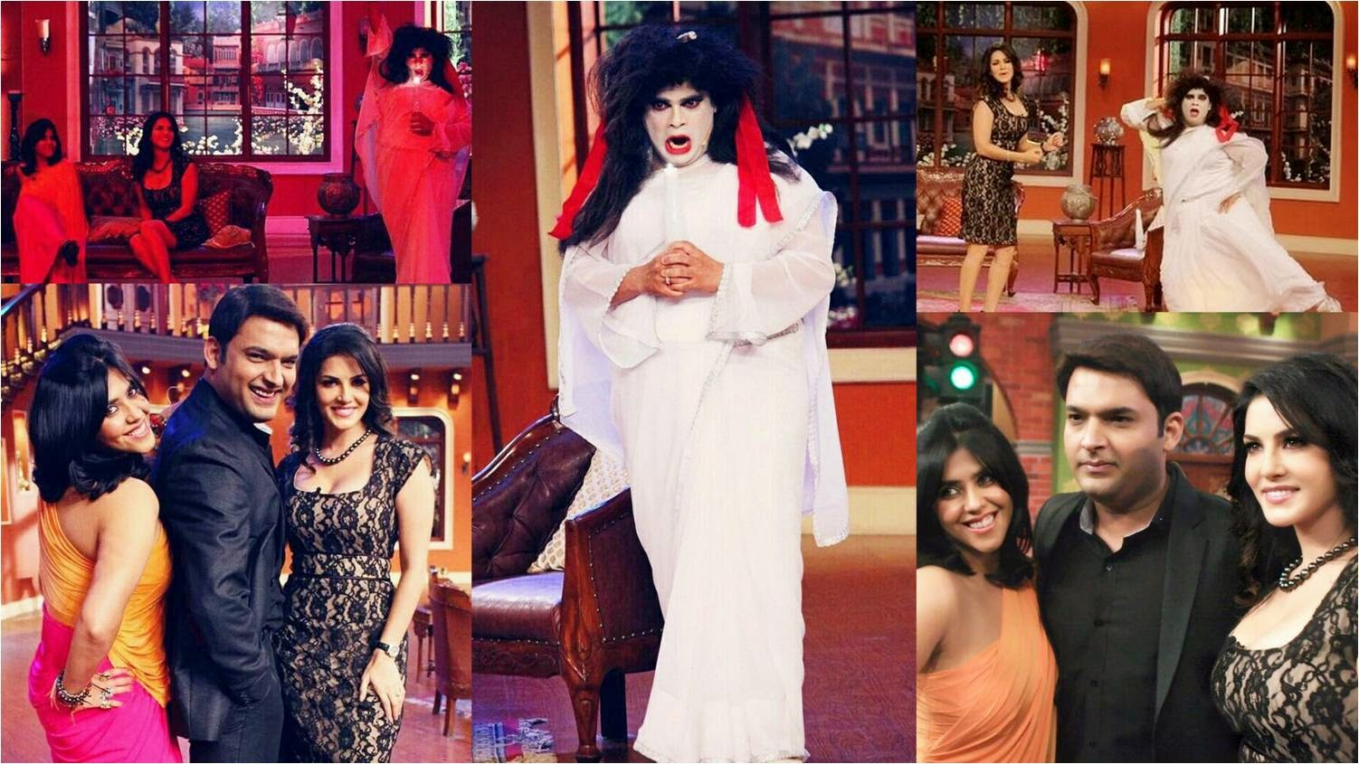 Ekta Kapoor and Sunny Leone at Comedy Nights with Kapil to promote Ragini MMS 2