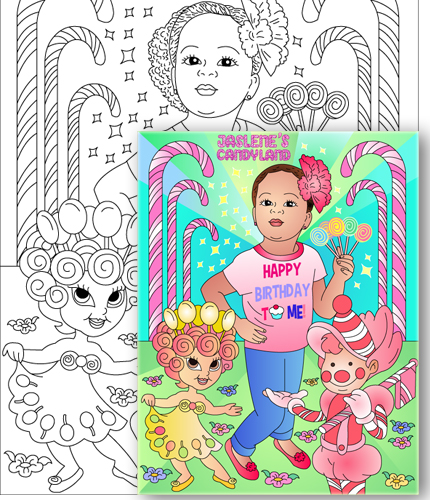 Candy Land Coloring Pages