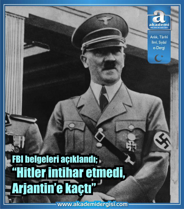 """FBI belgeleri açıklandı: """"Hitler öldürülemedi, Arjantin'e kaçtı"""""""