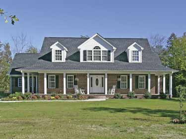Brick vector picture brick ranch house plans for House plans with dormers and front porch