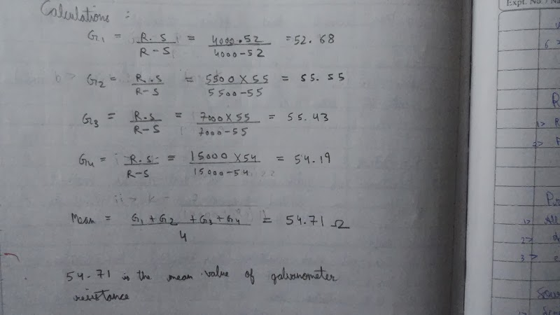 Cbse Class 12th Physics Practical File Readings