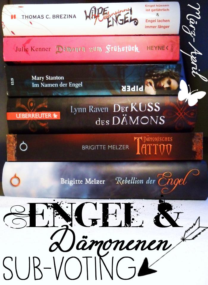 """Cover zum SuB-Voting unter dem Motto """"Engel und Daemonen"""" auf dem Literaturblog """"Buechergarten"""""""