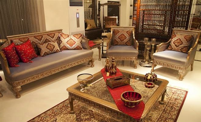 Living room furniture designs in pakistan for Bedroom curtains designs in pakistan