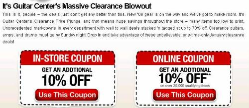 Guitar center discount coupon codes