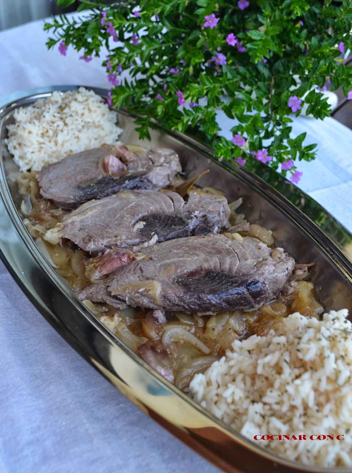 Cocinar con c atun rojo encebollado Cocinar con 5 ingredientes