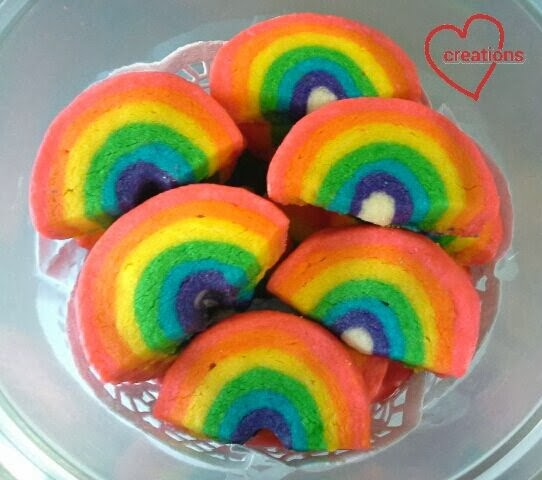 Loving Creations For You Rainbow Shortbread Cookies