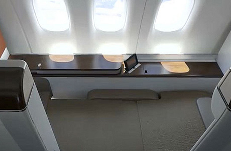 Foto Interior Boeing 777-300ER Garuda Indonesia