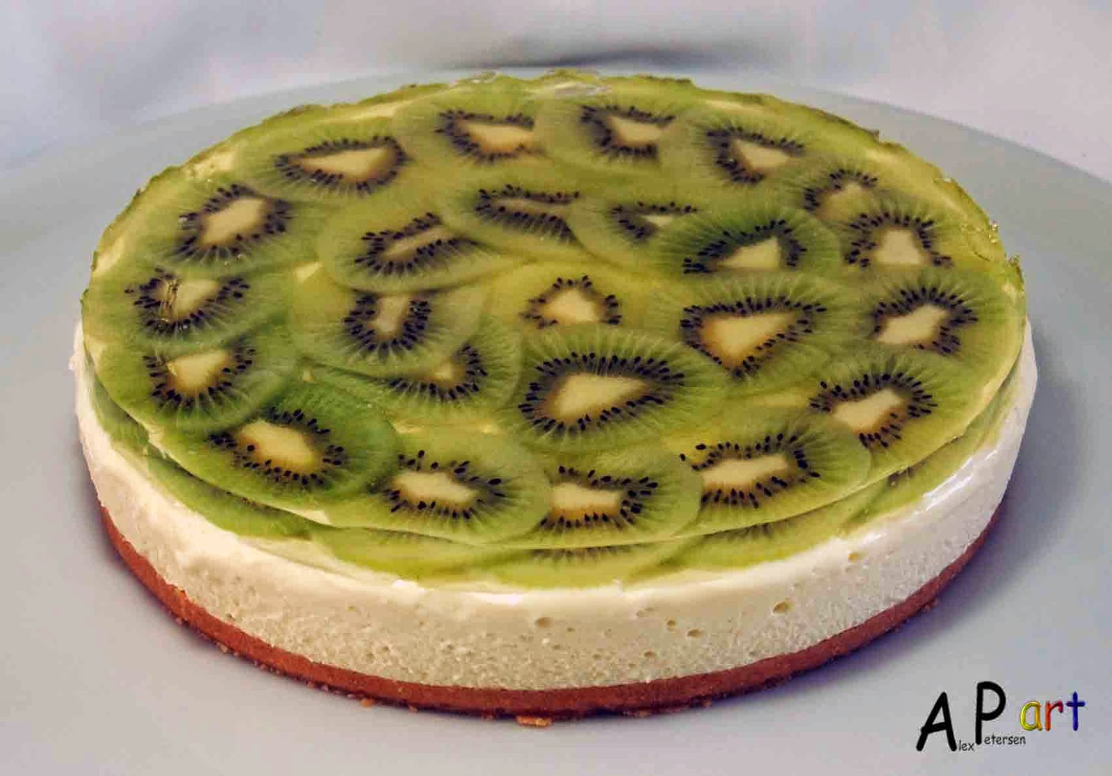 Alex the Contemporary Culinarian: Chilled Lime and Kiwi Cheesecake