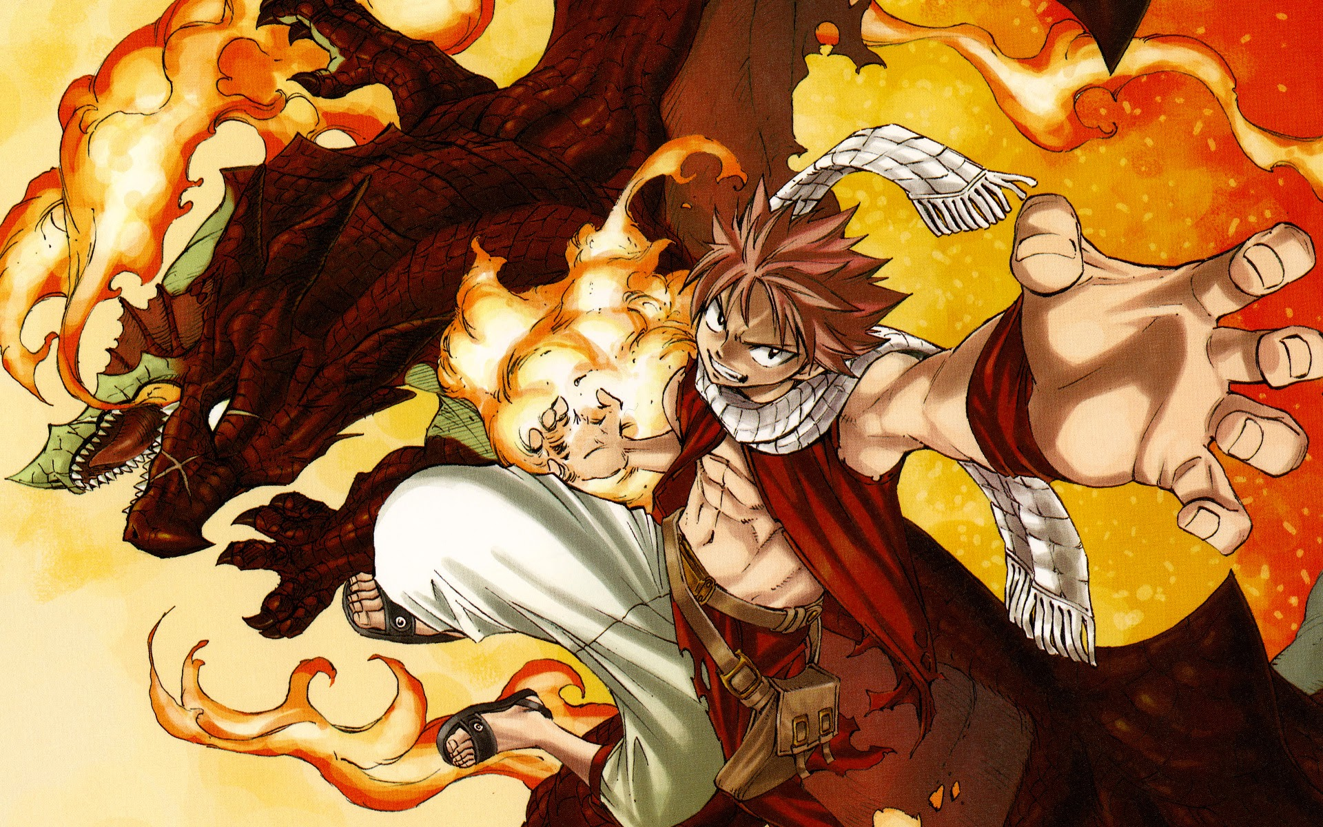 fairy tail natsu and igneel 8d wallpaper hd