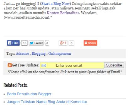 Cara Membuat Kotak RSS Subscribe di Bawah Postingan Blog