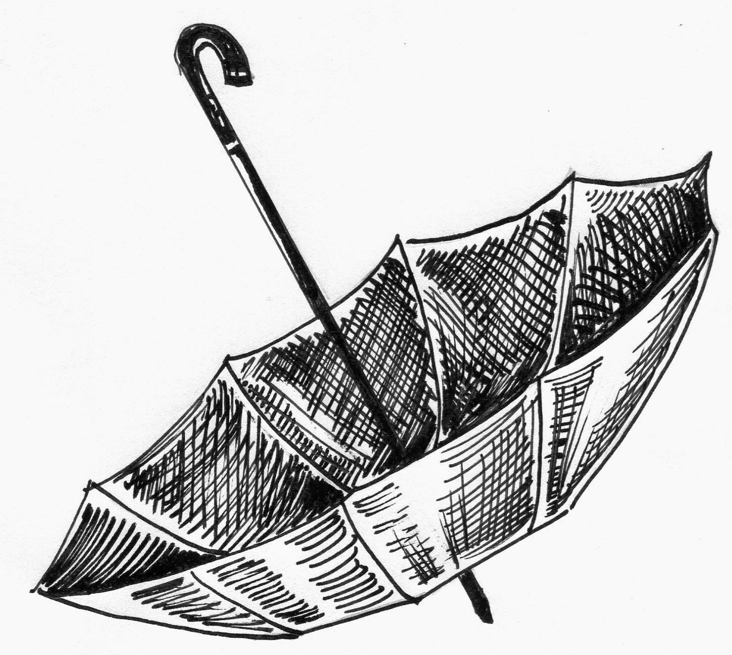 Line Drawing Umbrella : Umbrella line drawing